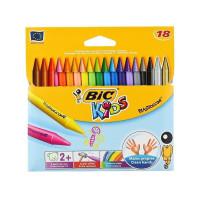 Kredki świecowe Bic 18 kolorów w pudełku