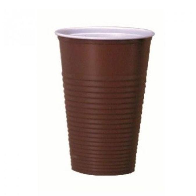 Kubki do kawy brązowe 180ml 100szt.