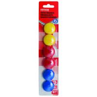 Magnesy do tablic Office Products okrągłe średnica 30mm 6szt blister mix kolorów