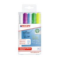Marker do tablic szklanych EDDING 049/B mix kolorów kpl. 5szt.