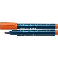 Marker permanentny SCHNEIDER Maxx 133 1-4 mm ścięty pomarańczowy