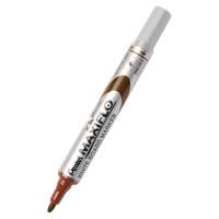 Marker suchościeralny PENTEL MAXIFLO 4mm z tłoczkiem brązowy