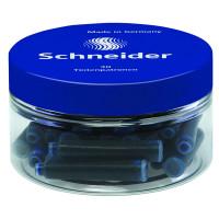 Naboje do piór SCHNEIDER, plastikowy słoik, 30 szt., niebieski