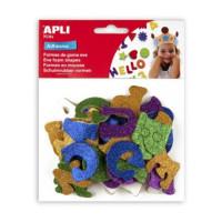 Naklejki Apli literki z brokatem 52szt. mix kolorów