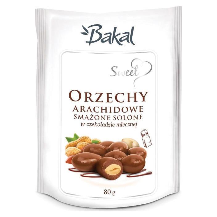 Orzechy arachidowe smażone solone w czekoladzie BAKAL Sweet 80g