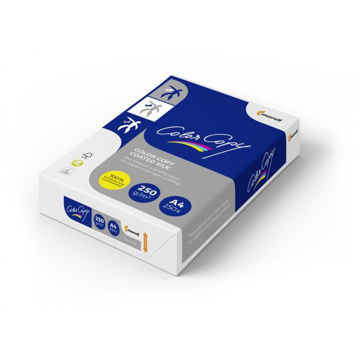 Papier COLOR COPY Coated Silk A4 250g do drukarki i ksero - ryza 250 ark.