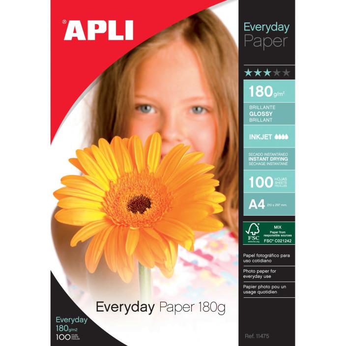 Papier fotograficzny APLI A4 80g/m2 błyszczący Foto Everyday Photo A4 1 100ark.