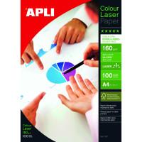 Papier fotograficzny APLI Glossy Laser Paper A4 160gsm do druku laserowego błyszczący 100ark.