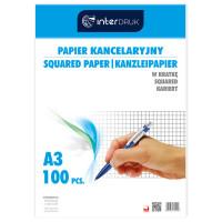 Papier kancelaryjny INTERDRUK A3 100 arkuszy kratka