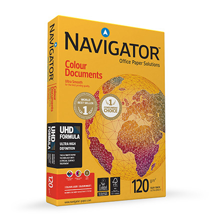 Papier NAVIGATOR Colour Documents A4 120g do drukarki i ksero - ryza 250 ark.
