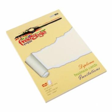 Papier ozdobny FREE STYLE Linen kremowy 246g/m2 25ark.