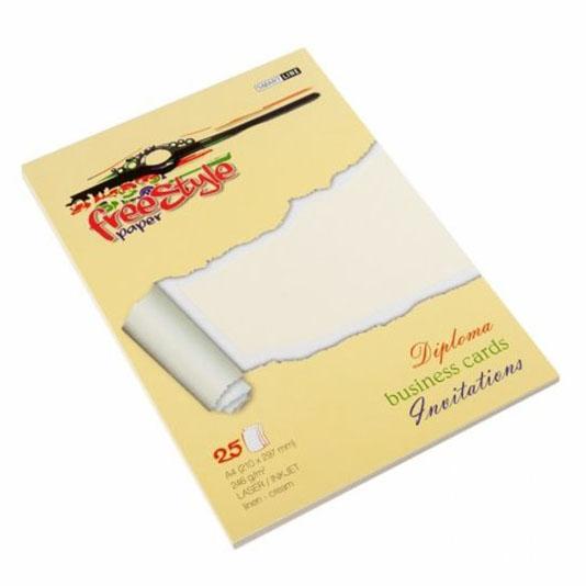 Papier ozdobny FREE STYLE Ribbed kremowy 246g/m2 25ark.