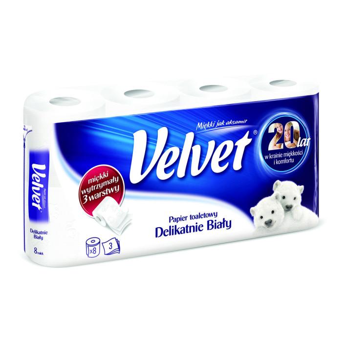 Papier toaletowy VELVET biały 8szt.