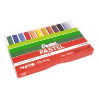 Pastele suche PENTEL 12 kolorów + wiszer