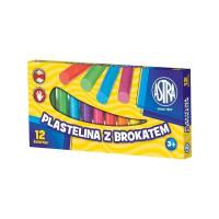 Plastelina brokatowa Astra 12 kolorów