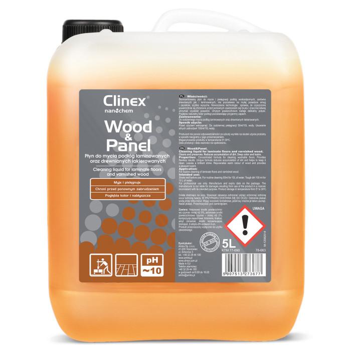 Płyn do mycia drewnianych podłóg i paneli CLINEX Wood&Panel 5L skoncentrowany
