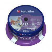Płyta DVD+R VERBATIM Printable 4,7GB/120min cake 25szt.