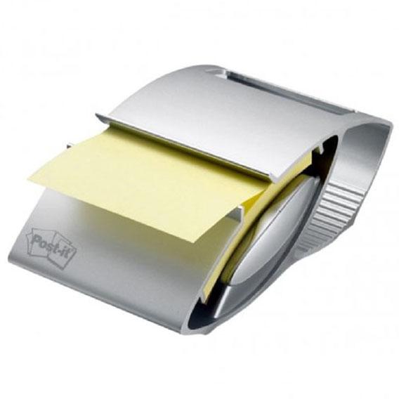 Podajnik do bloczków 3M Post-It Z-Notes PINIFARINA srebrny + 12 bloczków