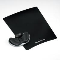 Podkładka pod mysz FELLOWES FABRIC Health-V PALM czarna 9180301