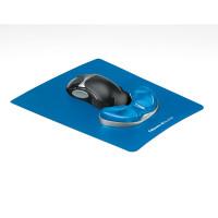 Podkładka pod mysz i nadgarstek FELLOWES CRYSTAL Health-V PALM niebieska