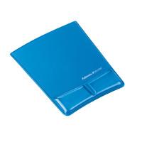Podkładka pod mysz i nadgarstek FELLOWES CRYSTAL Health-V niebieska