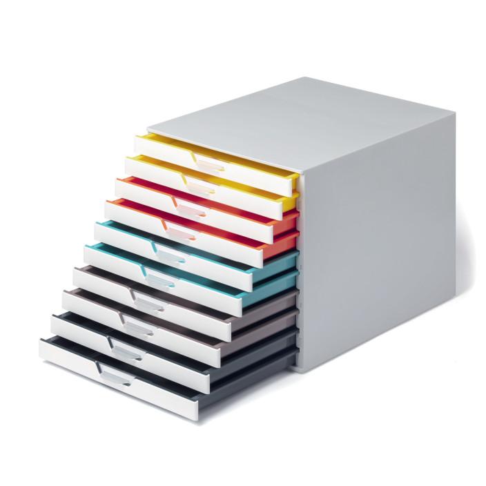 Pojemnik DURABLE VARICOLOR mix 10 kolorów z szufladkami