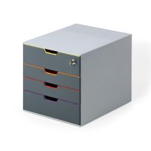 Pojemnik DURABLE VARICOLOR SAFE z 4 szufladkami
