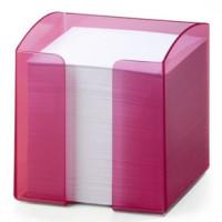 Pojemnik na karteczki DURABLE Trend różowy bezbarwny