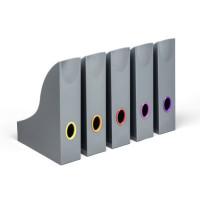 Pojemnik na katalogi DURABLE VARICOLOR z kolorowymi grzbietami, 5 sztuk antracytowy