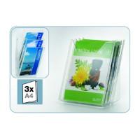 Półka na ulotki DURABLE Combiboxx 8580-19 A4L transparentna zestaw 3 szt.