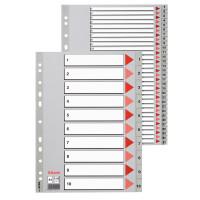 Przekładki plastikowe alfabetyczne ESSELTE A4 PP A-Z szare