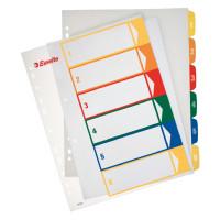 Przekładki plastikowe ESSELTE A4 PP Maxi do nadruku 1-6