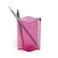 Przybornik na długopisy DURABLE Trend transparentny różowy