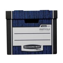 Pudła archiwizacyjne Fellowes Bankers Box WOODGRAIN - FastFold, niebieskie, opakowanie 10 szt.
