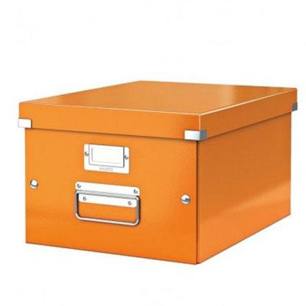 Pudło archiwizacyjne uniwersalne LEITZ Click&Store WOW pomarańczowe