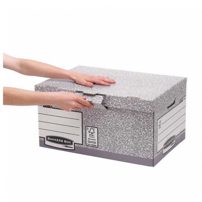 Pudło z uchylnym wiekiem FELLOWES Bankers Box System z FSC FastFold, opakowanie 10 szt.