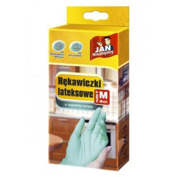 Rękawice lateksowe JAN NIEZBĘDNY rozmiar S 10szt.