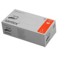 """Rękawice medyczne lateksowe pudrowane SANTEX rozmiar """"L"""" 100szt."""