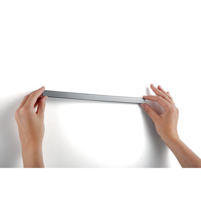 Samoprzylepna listwa magnetyczna DURABLE DURAFIX? RAIL szerokość 297 mm (A4), 5 sztuk, czarny