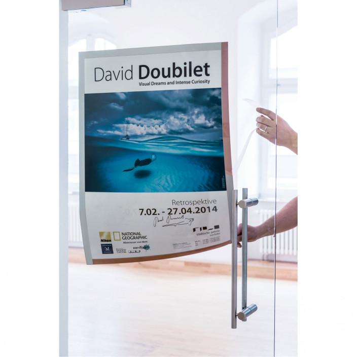 Samoprzylepna ramka informacyjna DURABLE DURAFRAME POSTER 50X70 do plakatów 1szt. srebrna