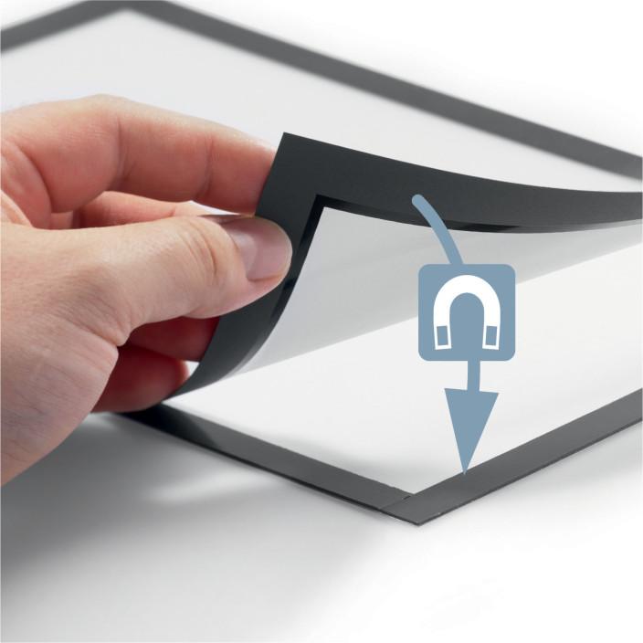 Samoprzylepna ramka informacyjna DURABLE DURAFRAME POSTER A1 do plakatów 1szt. srebrna