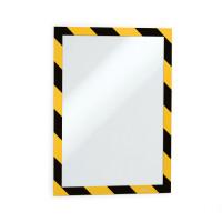 Samoprzylepna ramka magnetyczna DURABLE DURAFRAME SECURITY A4 żółto-czarna 5szt.