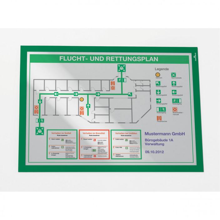 Samoprzylepna ramka magnetyczna DURABLE DURAFRAME A3 2szt. zielona