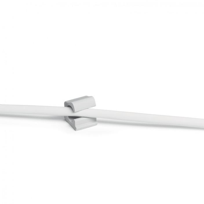 Samoprzylepny klips na 1 kabel DURABLE CAVOLINE CLIP PRO większy przekrój, 6 sztuk, szary
