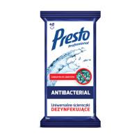Ściereczki dezynfekujące PRESTO 2w1 48szt. białe