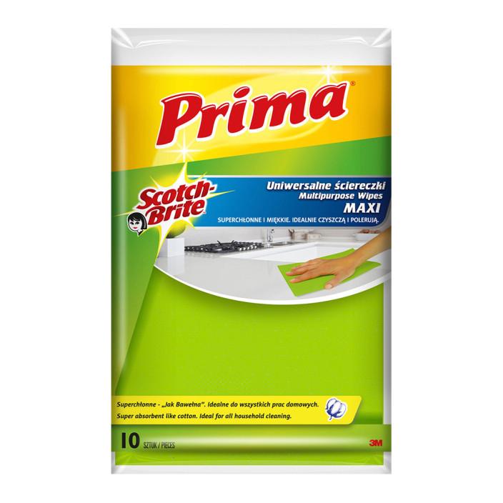 """Ścierki uniwersalne PRIMA Maxi """"Jak bawełna"""", 10szt., żółte"""