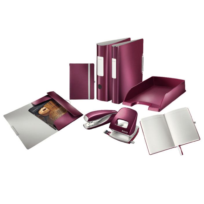 Segregator ringowy LEITZ Active Style SoftClick A4 52mm rubinowy 42450028