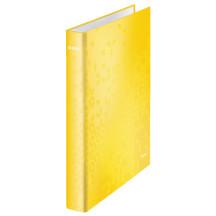 Segregator ringowy LEITZ WOW A4 2DR/25mm żółty 42410016