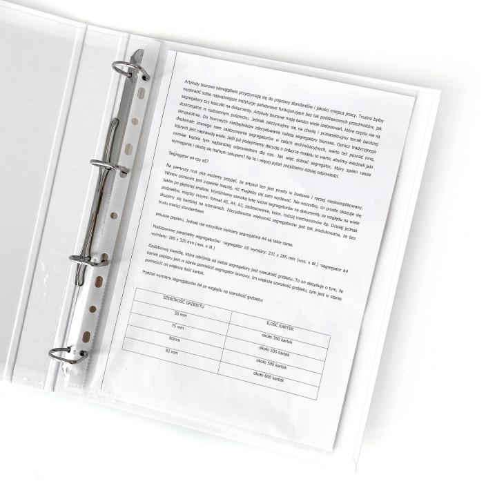 Segregator ringowy LEITZ WOW A4 4DR/25mm biały 42420001