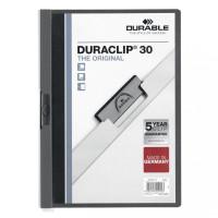 Skoroszyt zaciskowy DURABLE DURACLIP 1-30 antracytowy 25szt.